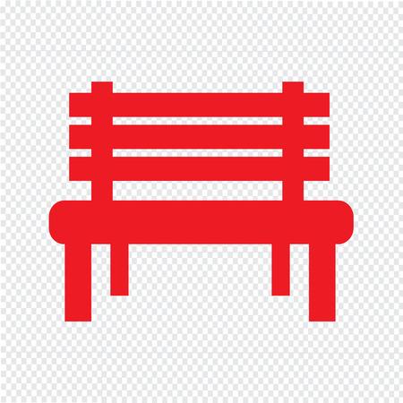 relax garden: Bench Icon illustration design Illustration