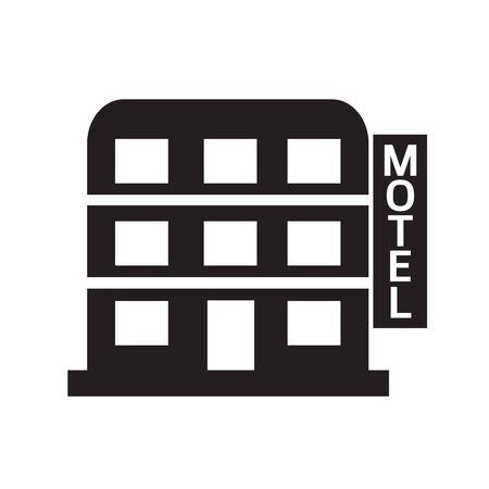 motel: Motel icon Illustration design
