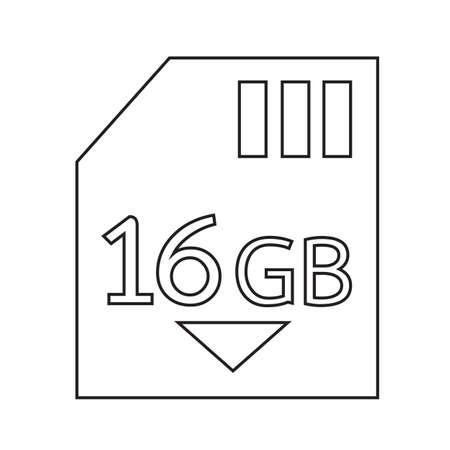 gb: Memory Card 16 Gb icon Illustration design