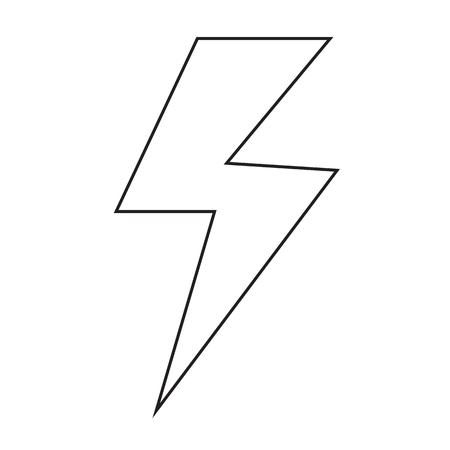 powerful: lightning icon Illustration design