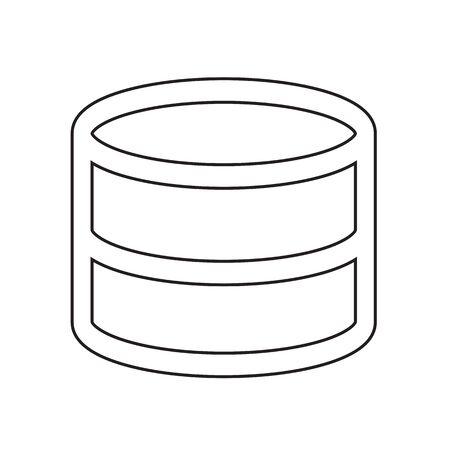 interlinked: Data Storage icon Illustration design Illustration