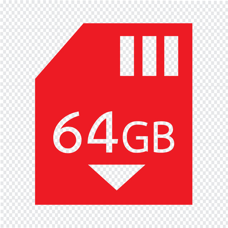 gb: Memory Card 64 Gb icon Illustration design