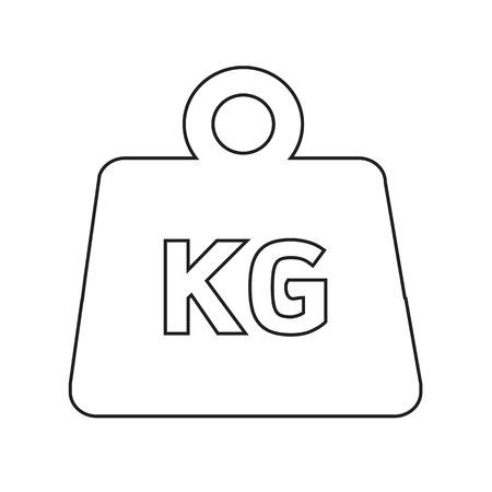 Weight kilogram icon Illustration design