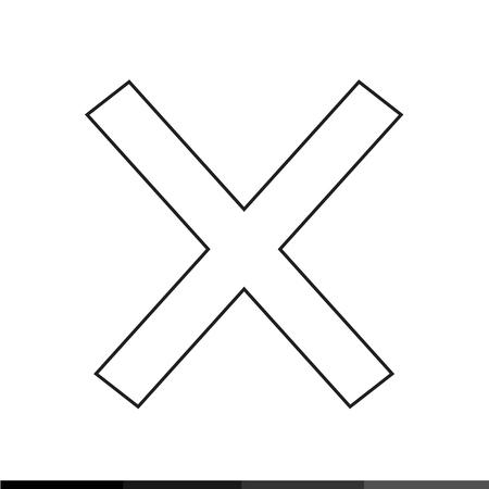 rejection: Delete cross icon Illustration design