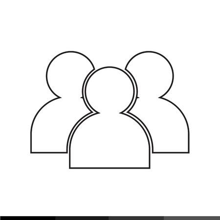 multiple: Multiple Users Icon Illustration design