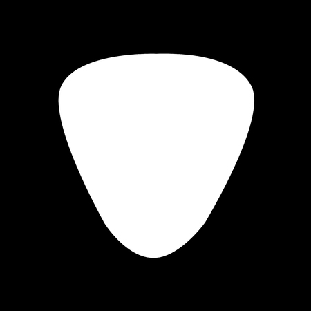 pick: Guitar pick icon Illustration design Illustration