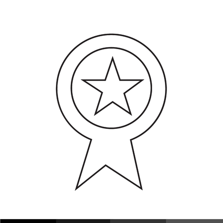 rank: Page rank badge star icon Illustration design