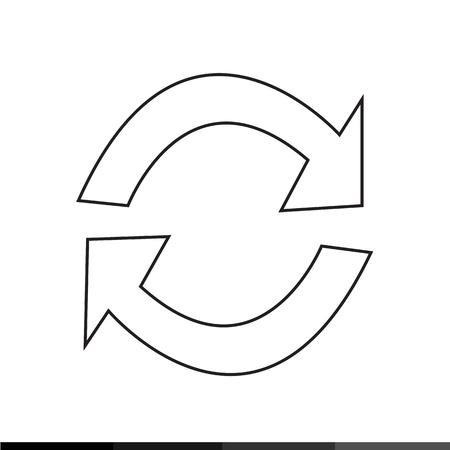 refresh icon: Refresh icon Illustration design Illustration
