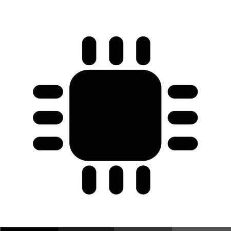 computer cpu: Computer CPU icon Illustration design