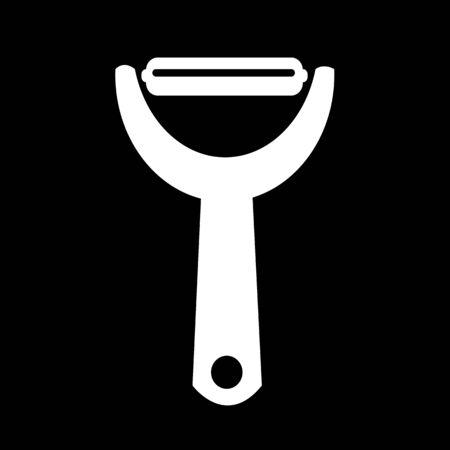 peeler: Potato peeler icon Illustration design