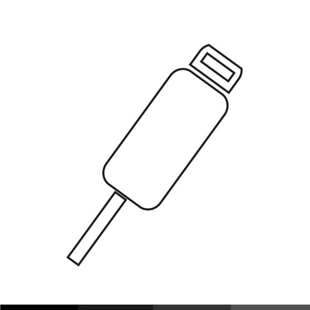 serial: USB Plug Icon Illustration design