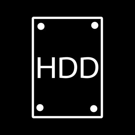 hard component: Hard Disk Icon Illustration design