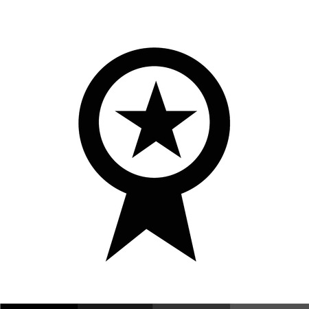 page rank: Page rank badge star icon Illustration design