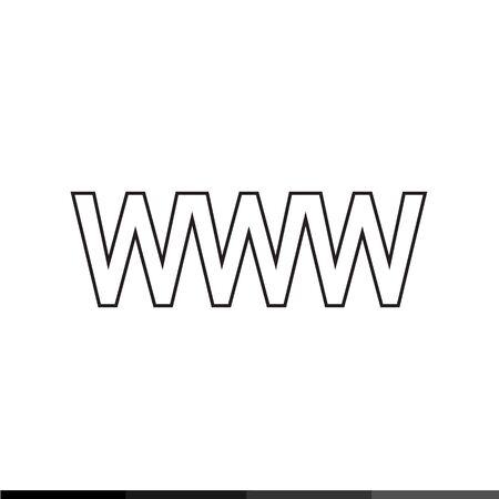world wide: World wide web symbol icon Illustration design