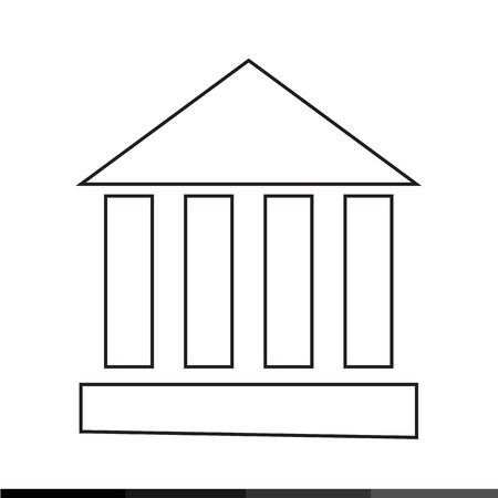 architectural styles: Monument Temple Column Icon Illustration design Illustration