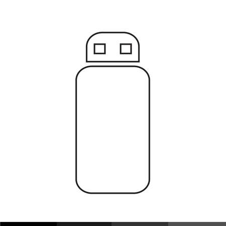USB Memory Icon Illustration design