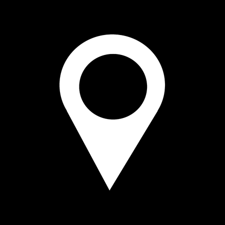 indicate: Location Pin Icon Illustration design