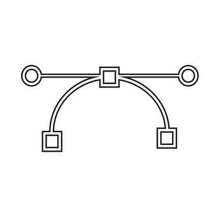 feature: Bezier curve tool icon Illustration design Illustration