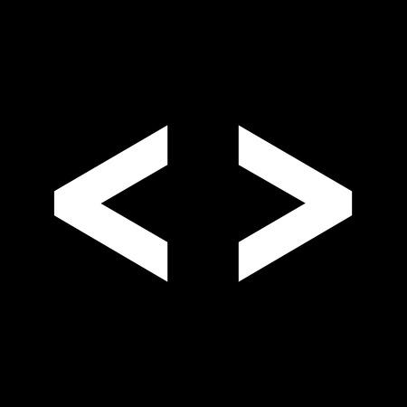 brackets: Language HTML icon , Progrmming code icon Illustration design Illustration
