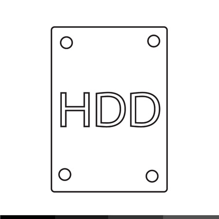 harddrive: Hard Disk Icon Illustration design