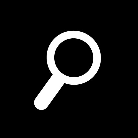 seek: Magnifying Glass Icon Illustration design