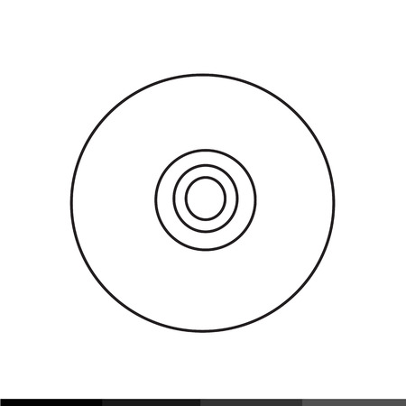 harddrive: Compact Disc Storage Icon Illustration design