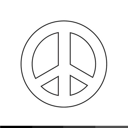 pacifist: Peace symbol icon Illustration design