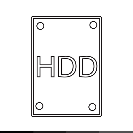 hard: Hard Disk Icon Illustration design