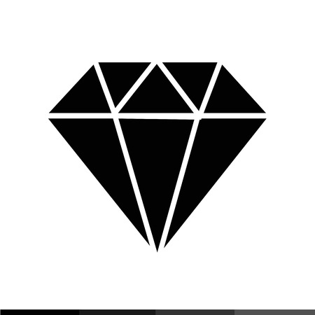 dearly: Diamond icon Illustration design