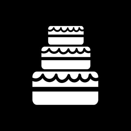 wedding cake: Wedding Cake icon Illustration design