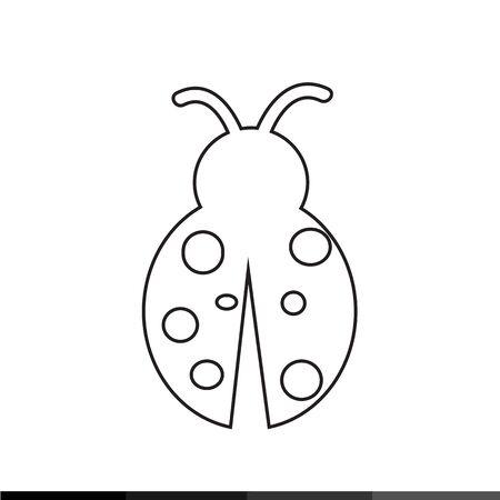 coccinellidae: Ladybug Icon Illustration design