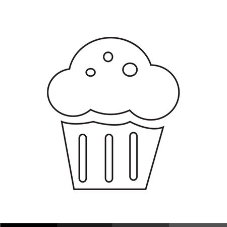 brownie: Cupcake Icon Illustration design Illustration