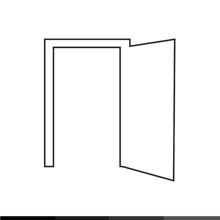 doorknob: Door icon Illustration design Illustration