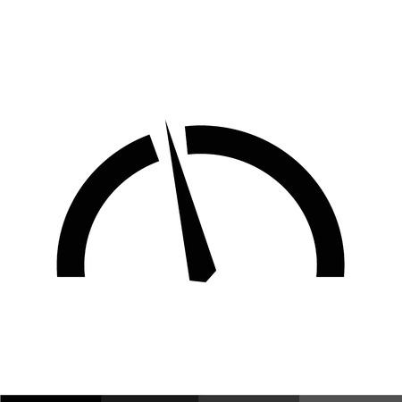 tachometer: Speedometer and tachometer icon Illustration design Illustration