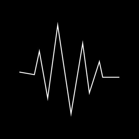 digital music: Sound Bars Pulse Icon Illustration design