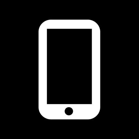directorio telefonico: Icono del tel�fono celular de dise�o Ilustraci�n