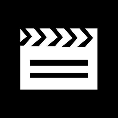 flick: Cinema Clapboard Icon Illustration design Illustration