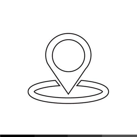 matted: Location Pin Icon Illustration design