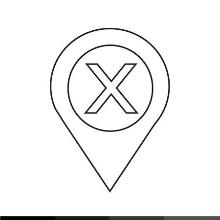 navigation panel: Location Pin Icon Illustration design