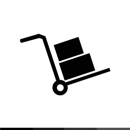 sellotape: handcart icon Illustration design