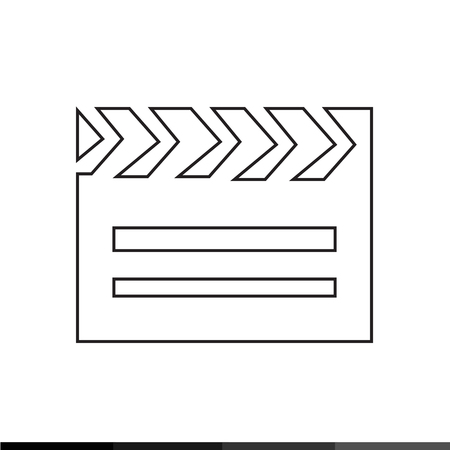 clapboard: Cinema Clapboard Icon Illustration design Illustration