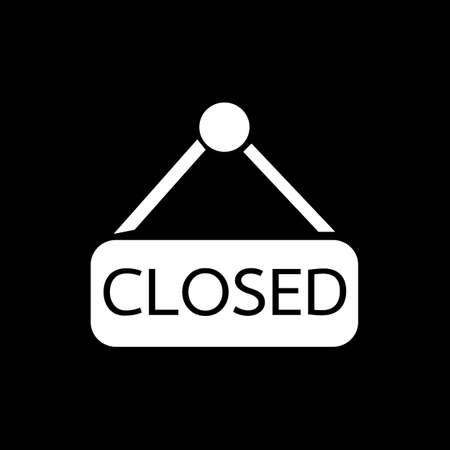 sign store: Closed icon Illustration design Illustration