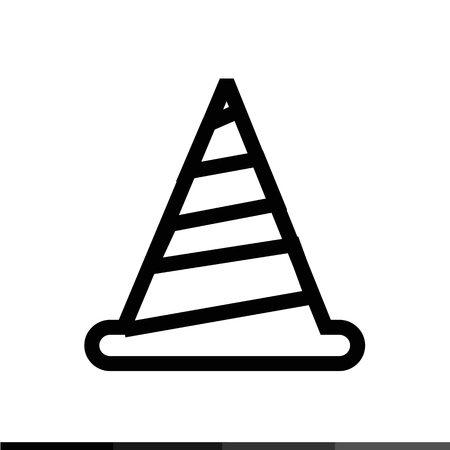 traffic pylon: traffic cone icon Illustration design Illustration