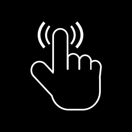 ideograph: cursor hand icon illustration design