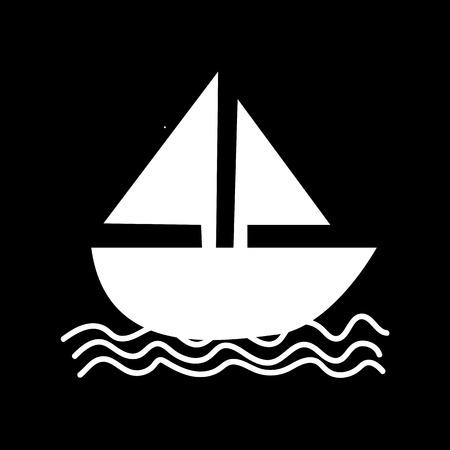 sail boat: Sail boat icon illustration design