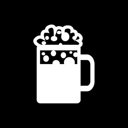 stein: Beer Jar Icon Illustration design