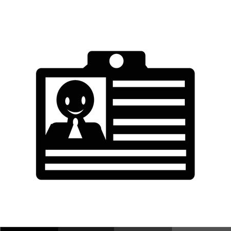 licence: id card icon illustration design