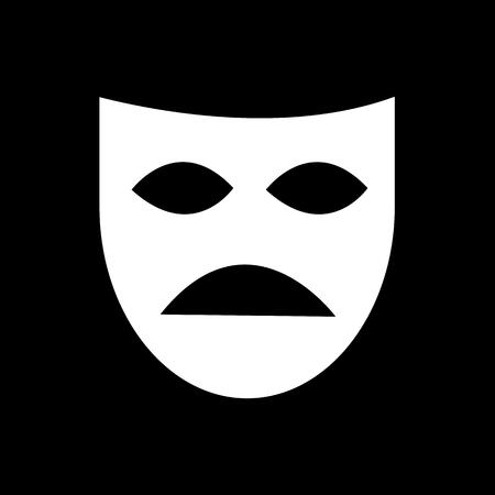 theater mask: Theater mask icon illustration design Illustration