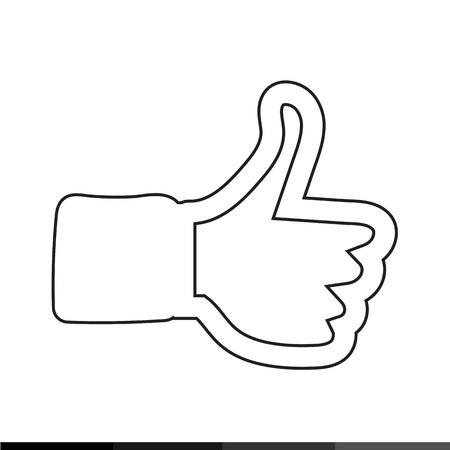caller: Like Icon Hand Icon illustration design