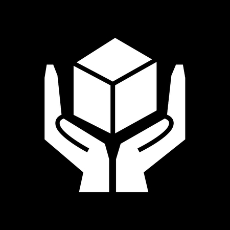 handle with care: Handle with care sign icon illustration design